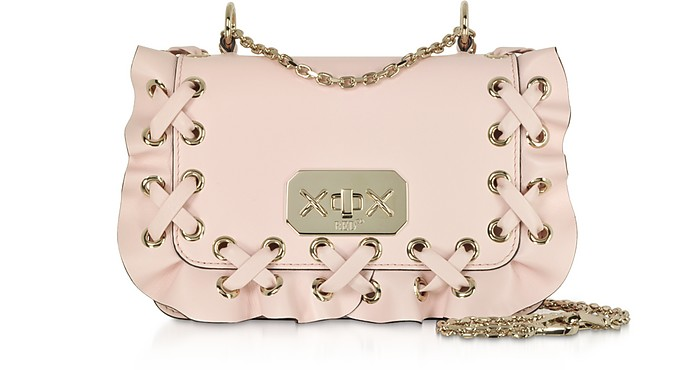 Mini Rock Ruffles Leather Shoulder Bag - RED Valentino