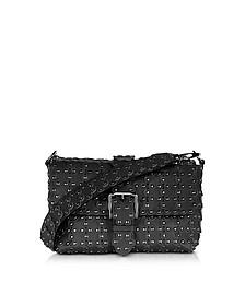 Black Flower Puzzle Shoulder Bag - RED Valentino