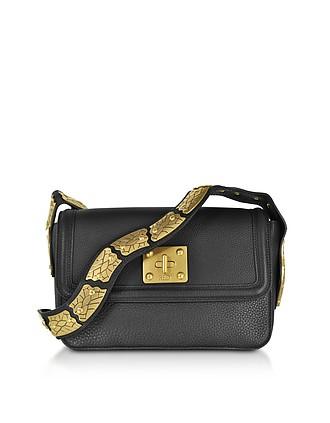 Large Black Pebble Leather Sin Crossbody Bag - RED Valentino 9b1f97243cbe3