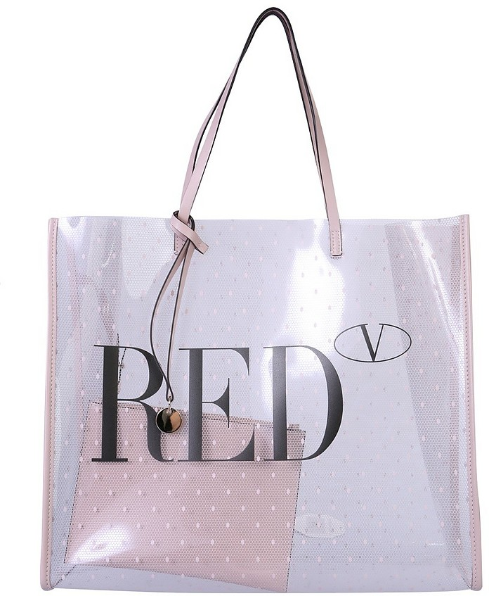 Pointote Transparent Shopping Bag - RED Valentino