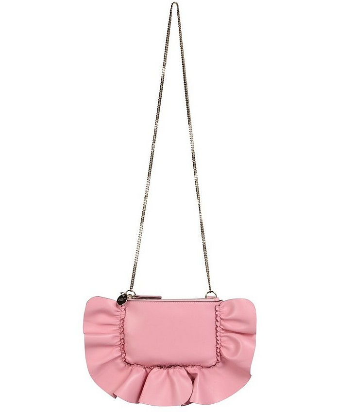 Rock Clutch With Ruffles - RED Valentino