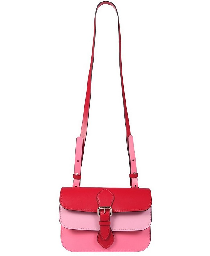 Leather Shoulder Bag - RED Valentino