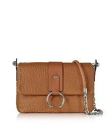 Light Cuir Shoulder Bag w/Silvertone Piercing - RED Valentino