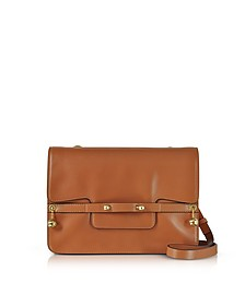 Light Cuir Leather Shoulder Bag w/Goldtone Piercing  - RED Valentino