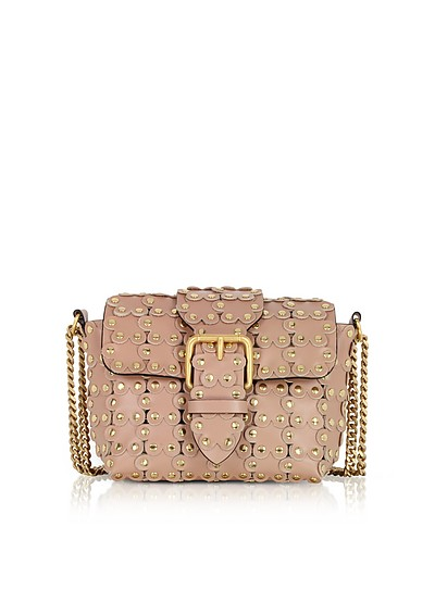 Puzzle Flower Chain Shoulder Bag - RED Valentino