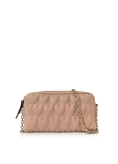 Beating Hearts Nappa Leather Chain Shoulder Bag - RED Valentino