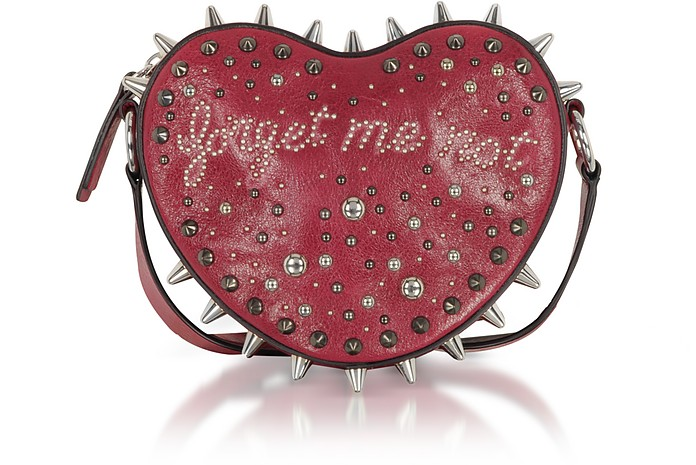 Forget Me Not Heart Studded Crossbody Bag - RED Valentino
