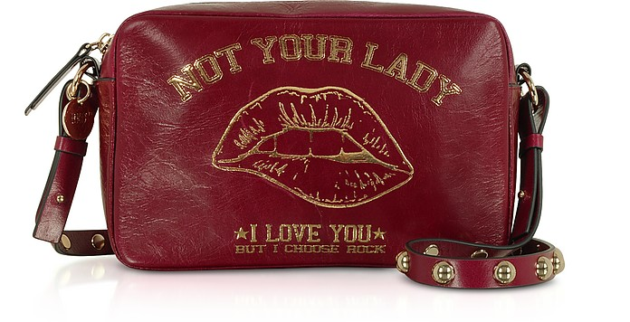 Not Your Lady Dark Red Crossbody Bag - RED Valentino