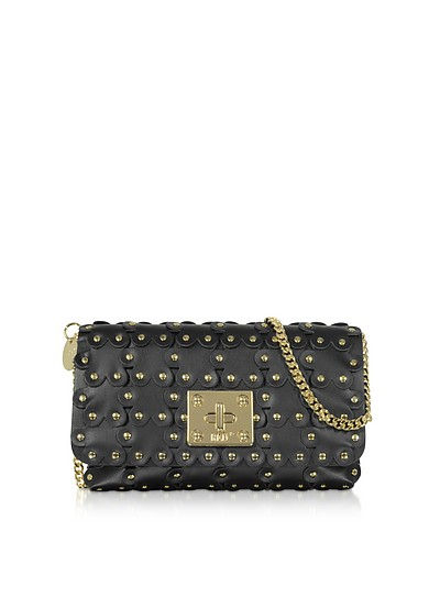 Flower Puzzle Genuine Leather Clutch - RED Valentino