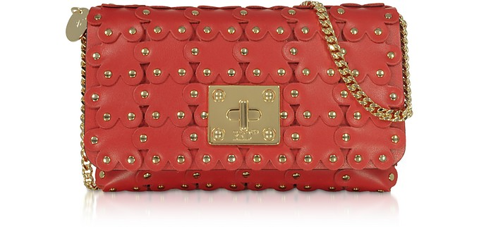 Flower Puzzle Clutch en Cuir Véritable - RED Valentino