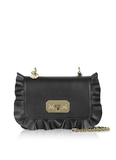 Rock Ruffles Shoulder Bag w/ Gold Chain Strap - RED Valentino