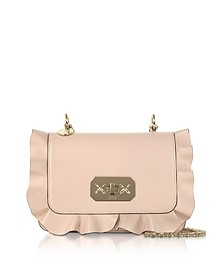 Rock Ruffles Shoulder Bag w/ Gold Chain Strap