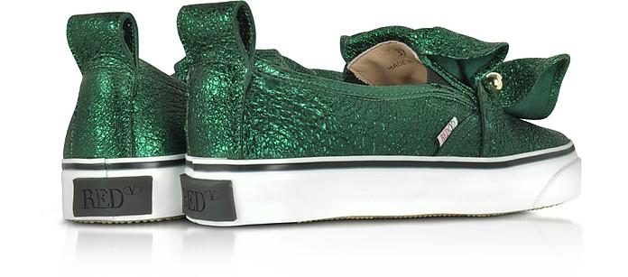 Sneakers in Pelle Craquelé Verde Menta RED Valentino 35 (35 EU) ra95euQp