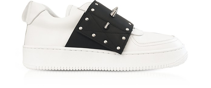 White/Black Slip-on Sneakers w/Studs - RED Valentino / レッド ヴァレンティノ