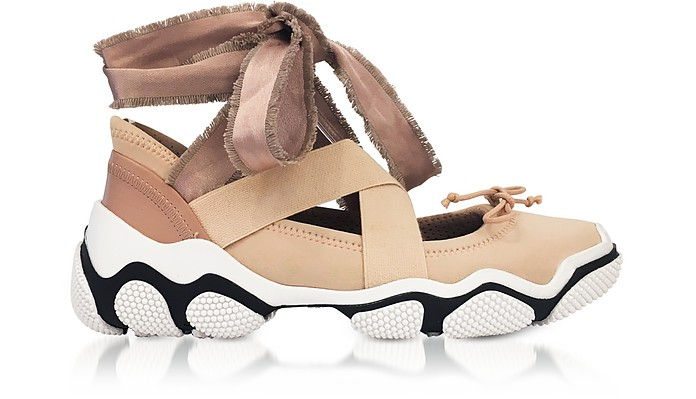 Nude Criss Cross Sneakers - RED Valentino