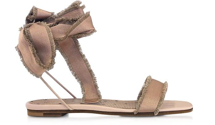 Nude Satin Sandals - RED Valentino