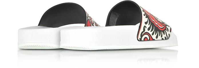 Sandali Slide in Pelle Stampa Barocca Colorblock RED Valentino 35 (35 EU) w2C1GkWB3I