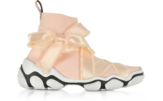 Petal Pink Nylon Sock Sneakers - RED VALENTINO