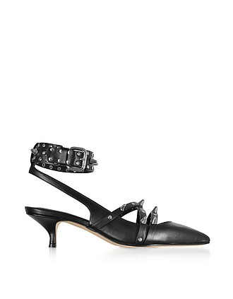 f6bde12772c72a Black Studded Leather Pump - RED Valentino