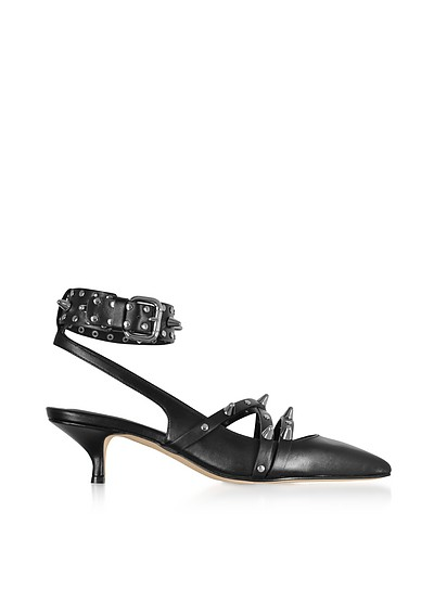 Black Studded Leather Pump - RED Valentino