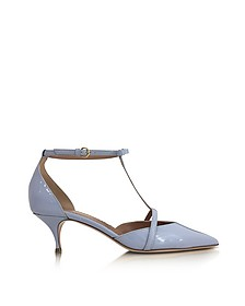 Ortensia Blue Patent Leather Mid Heel Pumps - RED Valentino