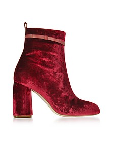 Red Velvet High Heel Bootie - RED Valentino