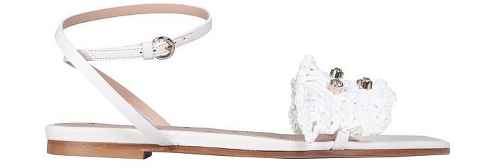 Woven Raffia Sandals - RED Valentino