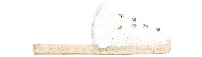 White Raffia Mules - RED VALENTINO