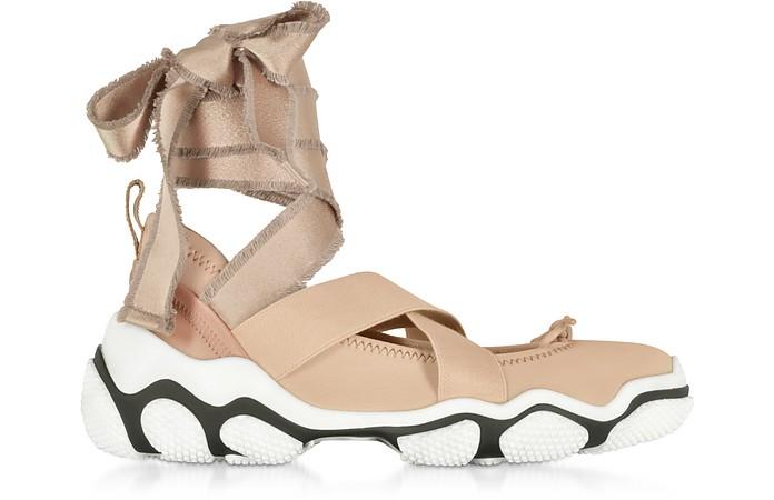 Nude Nylon Criss Cross Women's Sneakers - RED Valentino