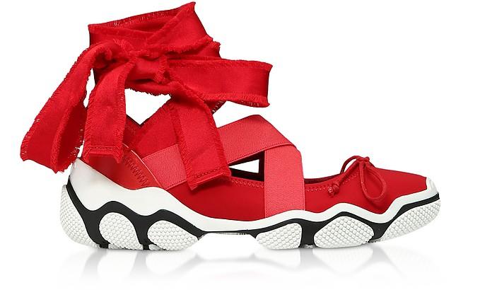 Amarillo Nylon Ballet Sneakers - RED VALENTINO