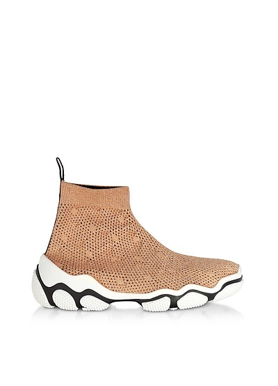 Light Nude Glam Run Sneakers - RED Valentino