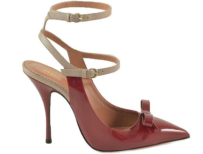 Red/nude Patent Leather Pumps - RED VALENTINO