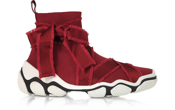 Dark Red High-top Glam Run Sneakers - RED Valentino