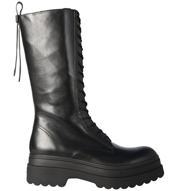 Lyered Combat Boots - RED Valentino