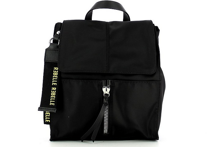 Women's Black Backpack - REBELLE
