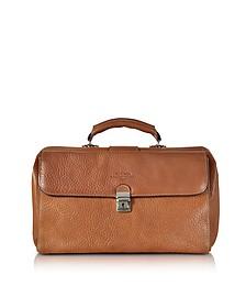 Brown Medium Genuine Italian Leather Doctor Bag - Robe di Firenze