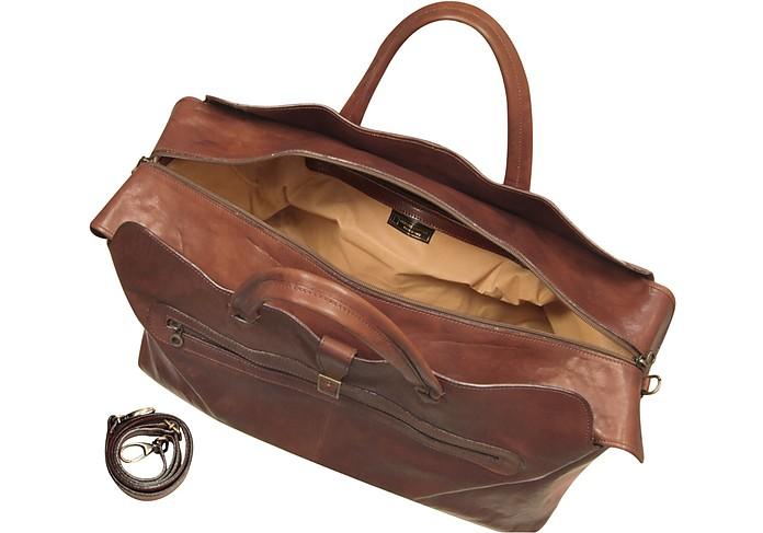 05b3faf5f4 Sac de voyage en cuir italien marron - Robe di Firenze. €512,00 Actual  transaction amount