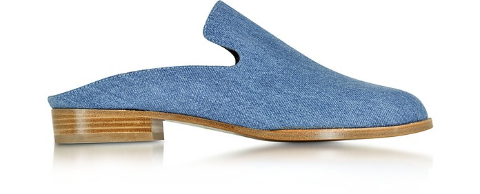 Alicet Mule in Denim Azzurro - Robert Clergerie