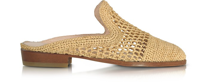 Antes Natural Woven Raffia Mule  - Robert Clergerie