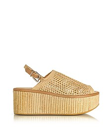 Fiesta Natural Woven Raffia Platform Sandals - Robert Clergerie