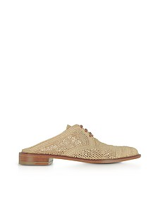 Jaly Natural Woven Raffia Flat Mules - Robert Clergerie