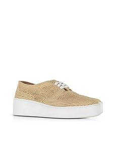 Taille Natural Perforated Raffia Platform Derby Shoes - Robert Clergerie