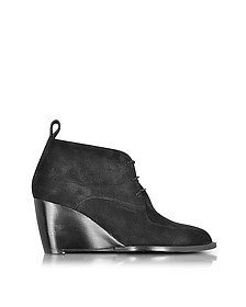 Orso Wedge Bootie aus Wildleder in schwarz - Robert Clergerie