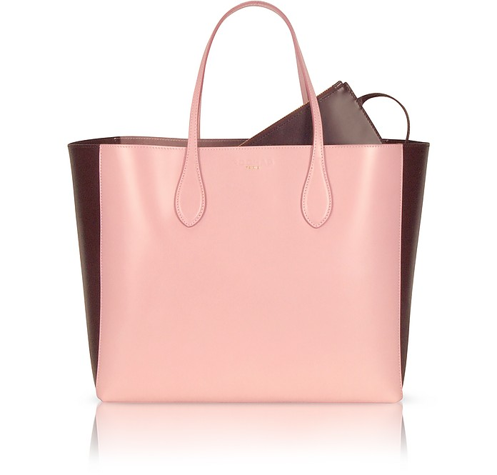 Two Tone Leather Tote - Rochas