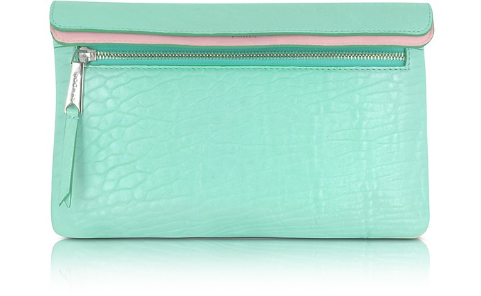 Foldover Leather Clutch - Rochas
