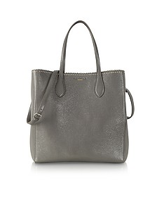 Studded Open Tote w/Shoulder Strap