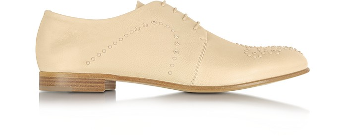 Micro Studded Leather Lace up Shoe - Fratelli Rossetti
