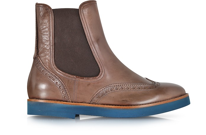 Chestnut Leather Ankle Boot - Fratelli Rossetti
