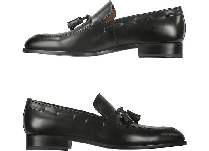 Fratelli RossettiDesigner Shoes, Dark Calf Leather Tassel Loafer Shoes