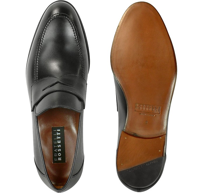 Fratelli RossettiDesigner Shoes, Calf Leather Penny Loafer Shoes